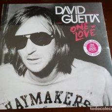Discos de vinilo: DAVID GUETTA - ONE LOVE - DOBLE - 2.LP.S - MBE - EDICION LIMITADA - VINILOS ROSA. Lote 190097471