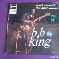 Discos de vinilo: B.B. KING EP STATESIDE FRANCIA 1967 - DON'T ANSWER THE DOOR +2 BLUES - SOLO LA PORTADA. Lote 190099595