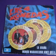 Disques de vinyle: LAS CUATRO MONEDAS SG MARFER 1970 LA ARAÑA / MUNDO MARAVILLOSO, GENTE BELLA - REGGAE POP 70'S SOUL. Lote 190099897