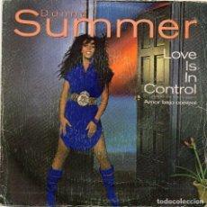 Discos de vinilo: DONNA SUMMER - LOVE IS IN CONTROL - SINGLE. Lote 190112307
