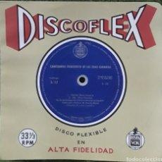 Discos de vinilo: DISCO FLEXIBLE CANCIONERO FOLKLÓRICO DE LAS ISLAS CANARIAS. Lote 190128567