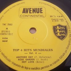 Discos de vinilo: TOP 6 HITS MUNDIALES EP SINGLE SPAIN 1971. Lote 190130081
