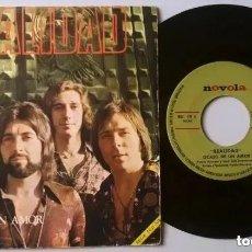 Discos de vinilo: REALIDAD / OCASO DE UN AMOR / SINGLE 7 INCH. Lote 190149275