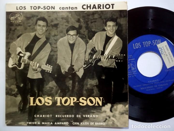 LOS TOP SON - CHARIOT - EP 1963 - LA VOZ DE SU AMO (Música - Discos de Vinilo - EPs - Grupos Españoles 50 y 60)