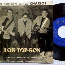 Discos de vinilo: LOS TOP SON - CHARIOT - EP 1963 - LA VOZ DE SU AMO. Lote 190150978