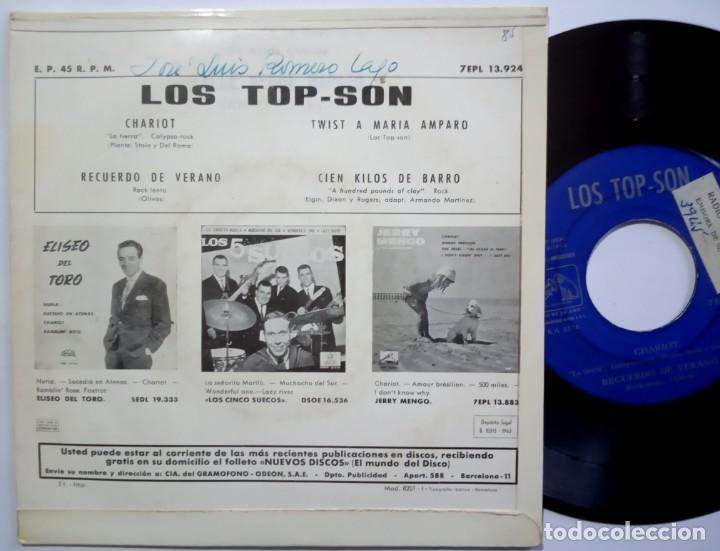Discos de vinilo: LOS TOP SON - chariot - EP 1963 - LA VOZ DE SU AMO - Foto 2 - 190150978