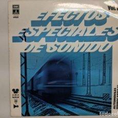 Discos de vinilo: 1976 RARISIMO LONG PLAY CON EFECTOS ESPECIALES DE FERROCARRILES Y AUTOMOVILES - ODEON. Lote 190151565