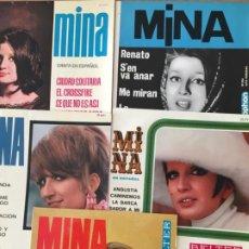 Discos de vinilo: MINA. RENATO. CIUDAD SOLITARIA. QUE HARÁS. LA BANDA. ANGUSTIA (5 VINILOS SINGLE). Lote 190153335