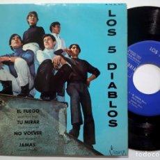 Discos de vinilo: LOS 5 DIABLOS - EL FUEGO - EP 1967 - VICTORIA. Lote 190157382