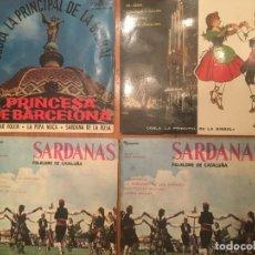 Discos de vinilo: COBLA PRINCIPAL DE LA BISBAL, SARDANAS LOTE DE 4 DISCOS. Lote 190157515