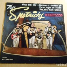 Discos de vinilo: SPOTNICKS, THE, EP, WHAT DID I SAY? + 3, AÑO 1963. Lote 190158702