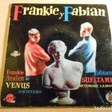 Discos de vinilo: FRANKIE Y FABIAN, EP, FRANKIE AVALON - VENUS + 3, AÑO 1959. Lote 190160633
