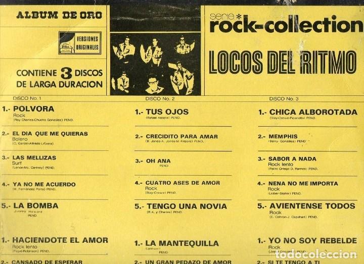 Discos de vinilo: LP Los Locos Del Ritmo Serie Rock Collection 2 discos 1974 Stereo Orfeon E-JM137 - Foto 4 - 190162987