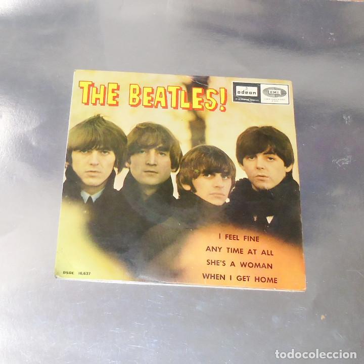 THE BEATLES ----I FEEL FINE -- 1ª EDICION ORIGINAL 1964 ---LABEL AZUL -DSDE 16.637 (Música - Discos de Vinilo - EPs - Pop - Rock Extranjero de los 50 y 60)