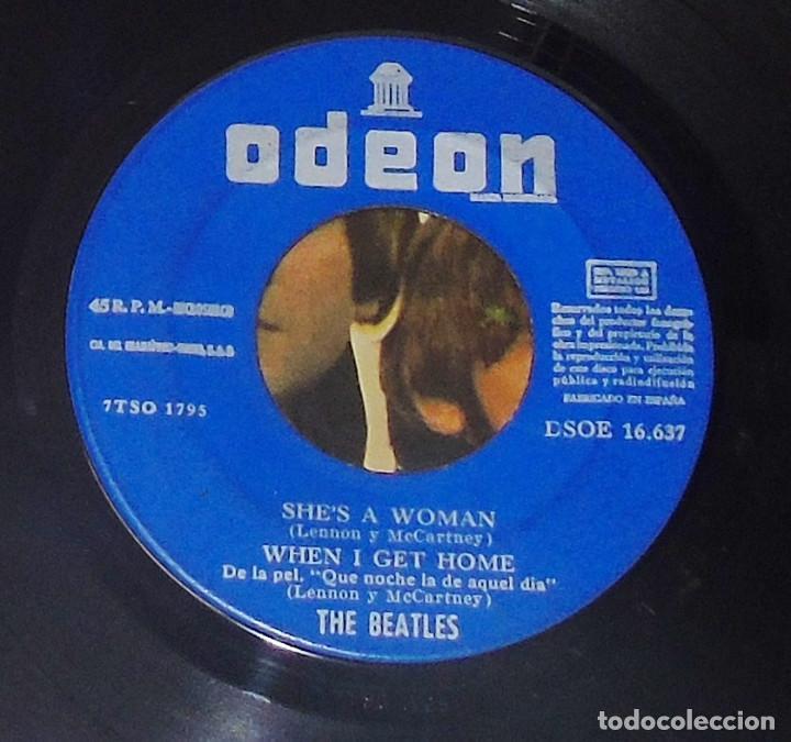 Discos de vinilo: THE BEATLES ----I FEEL FINE -- 1ª EDICION ORIGINAL 1964 ---LABEL AZUL -DSDE 16.637 - Foto 6 - 167546192