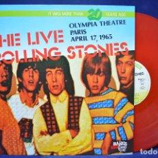 Discos de vinilo: THE ROLLING STONES – THE LIVE ROLLING STONES - OLYMPIA THEATRE, PARIS, APRIL 17, 1965 - LP . Lote 190165087