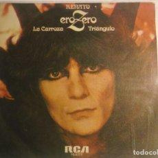 Disques de vinyle: RENATO ZERO-LA CARROZA-TRIANGULO-SINGLE ESPAÑA 1979 PROMOCIONAL-MUY RARO. Lote 190166007
