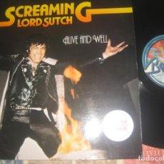 Discos de vinilo: SCREAMING LORD SUTCH ALIVE AND WELL (BABYLON-1980) OG ALEMANIA CHEAP TRICK PAT TRAVERS RARO 4º ALBUM. Lote 190196210