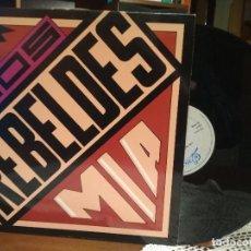 Discos de vinilo: LOS REBELDES -MIA- 1990 MAXI SINGLE 45 RPM. Lote 190201417
