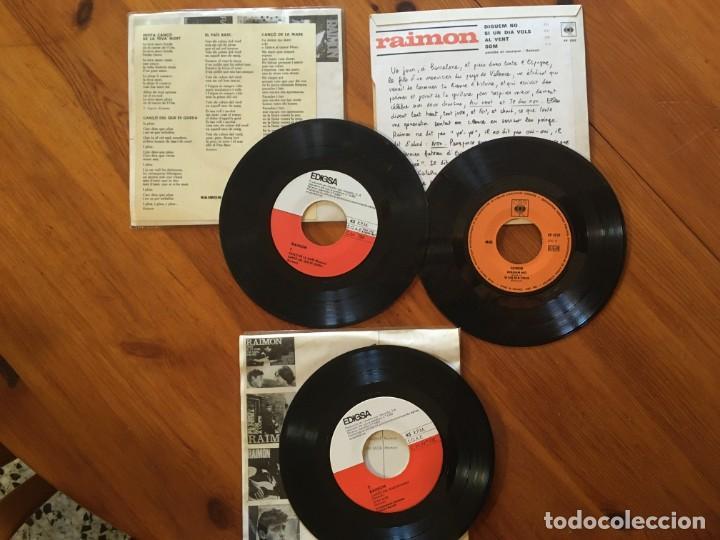 Discos de vinilo: Raimon disco 3 singles - al vent - diguem no - canço a la mare -si em mor -en el record encara - Foto 2 - 190213977