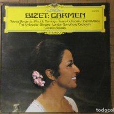 Discos de vinilo: BIZET: CARMEN. CLAUDIO ABBADO. DEUTSCHE GRAMMOPHON, 25 37 049, ESPAÑA, 1979.. Lote 190221951