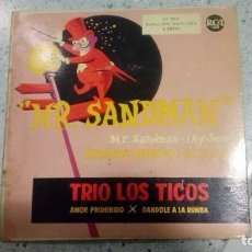 Discos de vinilo: VINILO TRIO LOS TICOS HERMANAS NAVARRO MR. SANDMAN RCA AÑOS 50. Lote 190290258