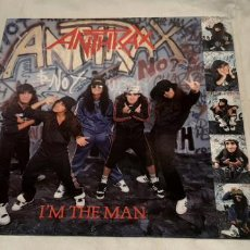 Discos de vinilo: ANTHRAX -I'M THE MAN- (1987) MAXI-SINGLE. Lote 190291537