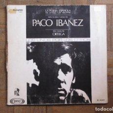 Discos de vinilo: PACO IBAÑEZ. LOS UNOS POR LOS OTROS. SONOPLAY, M 26.011. GATEFOLD. ESPAÑA, 1968.. Lote 190322541