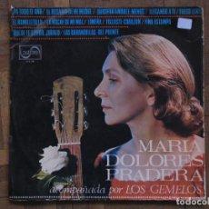 Discos de vinilo: MARÍA DOLORES PRADERA. ACOMPAÑADA POR LOS GEMELOS. ZAFIRO, Z-L 98. ESPAÑA, 1967.FUNDA VG. DISCO VG+.. Lote 190325986