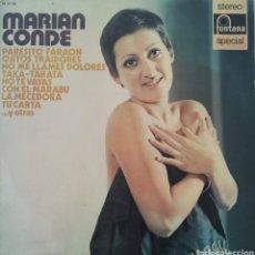 Discos de vinilo: MARIAN CONDE - RARO Y DIFICIL LP. Lote 190349115