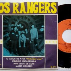 Discos de vinilo: LOS RANGERS - MUY LEJOS DE AQUI - EP 1966 - MARFER. Lote 190358885