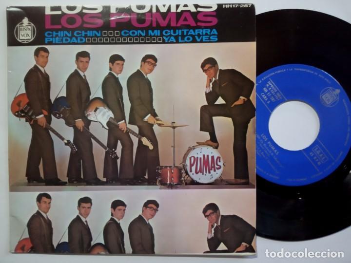 LOS PUMAS - CHIN CHIN - EP 1964 - HISPAVOX (Música - Discos de Vinilo - EPs - Grupos Españoles 50 y 60)