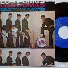 Discos de vinilo: LOS PUMAS - CHIN CHIN - EP 1964 - HISPAVOX. Lote 190360990