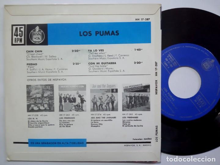 Discos de vinilo: LOS PUMAS - chin chin - EP 1964 - HISPAVOX - Foto 2 - 190360990