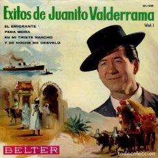 Discos de vinilo: JUANITO VALDERRAMA (EXITOS VOL 1) EL EMIGGRANTE + 3 (EP 1964). Lote 242053420