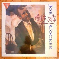 Discos de vinilo: JOE COCKER NIGHT CALLS LP MUY BUEN ESTADO. Lote 190365432