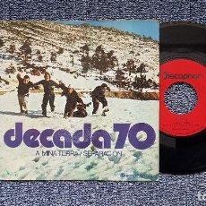 Discos de vinilo: DECADA 70 - A MIÑA TERRA / SEPARACIÓN. EDITADO POR DISCOPHON AÑO 1.971. RARÍSIMO, COLECCIONISTAS. Lote 190376195