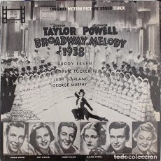 Discos de vinilo: BROADWAY MELODY OF 1938 BANDA SONORA ORIGINAL TAYLOR-GARLAND-POWELL MOTION PICTURE TRACKS ‎– USA. Lote 190387736