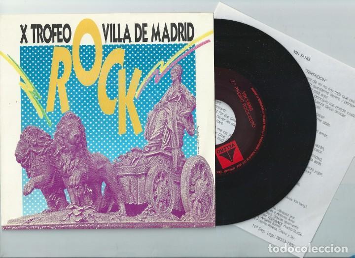 YIN YANG SINGLE VILLA DE MADRID,SPANISH HEAVY 1988-FURIA ANIMAL-LUZBEL (COMPRA MINIMA 15 EUROS) (Música - Discos - Singles Vinilo - Heavy - Metal)