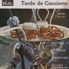 Discos de vinilo: TARDE DE CONCIERTO. BRAMAS. SCHUBERT... LES CONCERTS D´ETE.PIERRE SLIVOVITCH.EP ESPAÑA. Lote 190406030