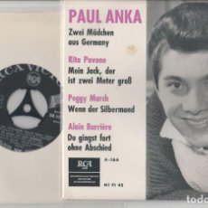 Discos de vinilo: 45 EP ALAIN BARRIERE +3 DU GINGST FORT OHNE ABSHIED (ELLE ETAIT SI JOLIE) RCA A-166 GERMANY . Lote 190410846