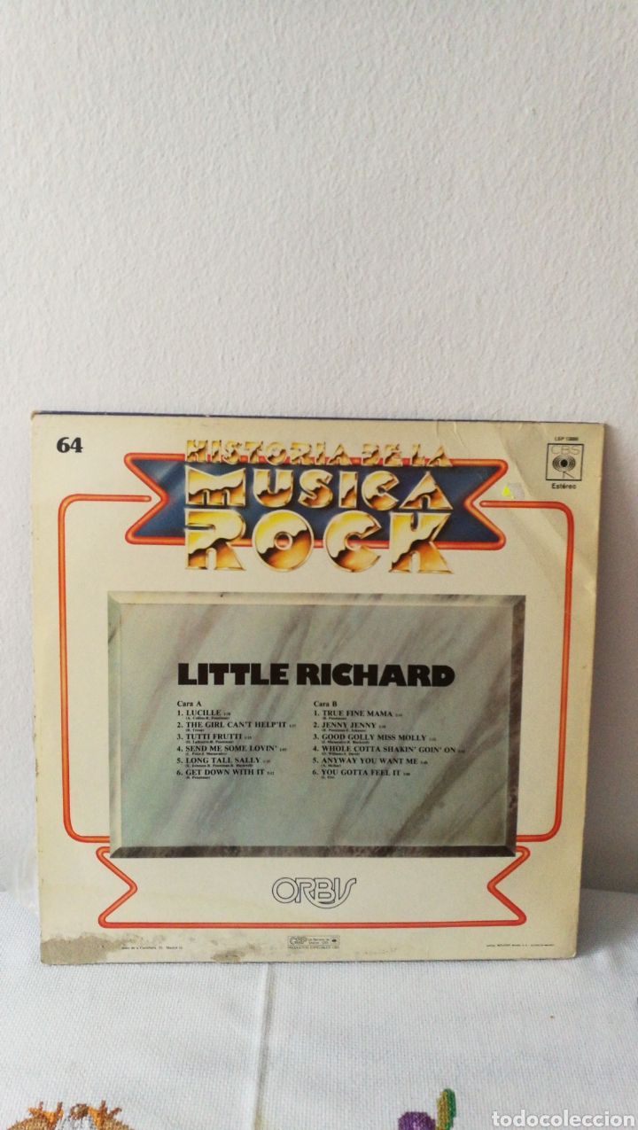 Discos de vinilo: 2 Discos de vinilo. Historia de la música rock Little Richard. Rockwell. Somebody's watching me. - Foto 4 - 190422643