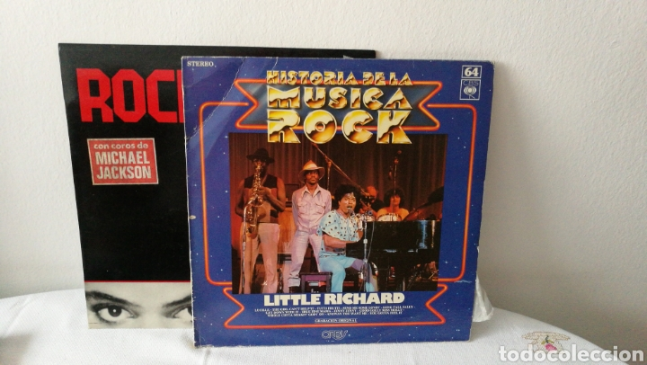 2 DISCOS DE VINILO. HISTORIA DE LA MÚSICA ROCK LITTLE RICHARD. ROCKWELL. SOMEBODY'S WATCHING ME. (Música - Discos de Vinilo - EPs - Pop - Rock Extranjero de los 70)
