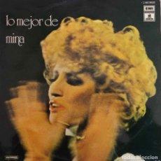 Discos de vinilo: MINA, LO MEJOR. LP ESPAÑA 1975 EMI. Lote 190424591