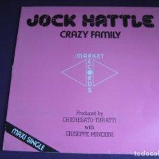 Disques de vinyle: JOCK HATTLE MAXI SINGLE CBS 1983 - CRAZY FAMILY +1 ITALODISCO EUROPOP 80'S - SIN APENAS USO. Lote 190426408
