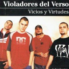 Discos de vinilo: VICIOS Y VIRTUDES. DOBLE LP DE VINILO 12 33 R.P.M. VIOLADORES DEL VERSO. RAP SOLO / BOA MÚSICA, 201. Lote 190429462