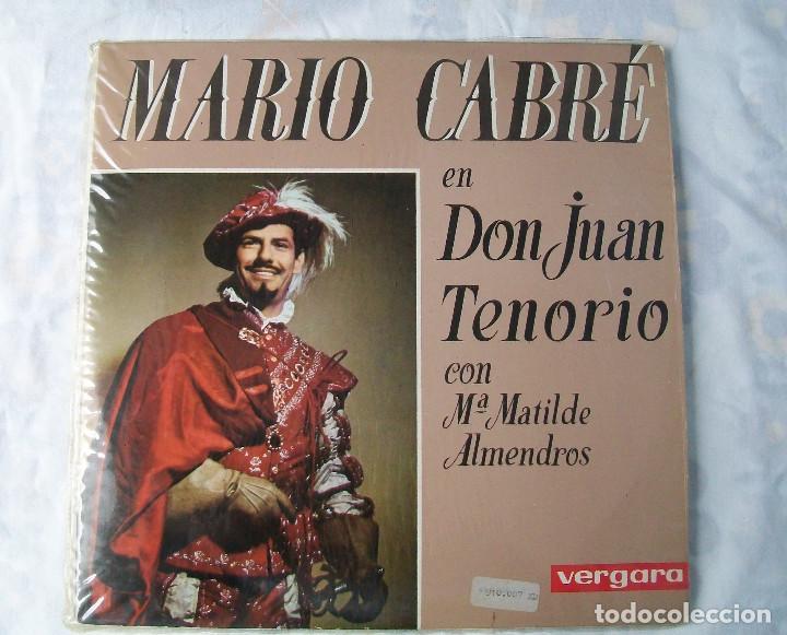 MARIO CABRÉ EN DON JUAN TENORIO CON Mª MATILDE ALMENDROS VERGARA 1963 DOBLE DISCO (Música - Discos - Singles Vinilo - Bandas Sonoras y Actores)