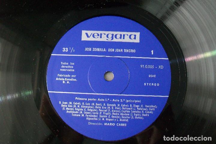 Discos de vinilo: MARIO CABRÉ EN DON JUAN TENORIO CON Mª MATILDE ALMENDROS VERGARA 1963 DOBLE DISCO - Foto 2 - 190450305