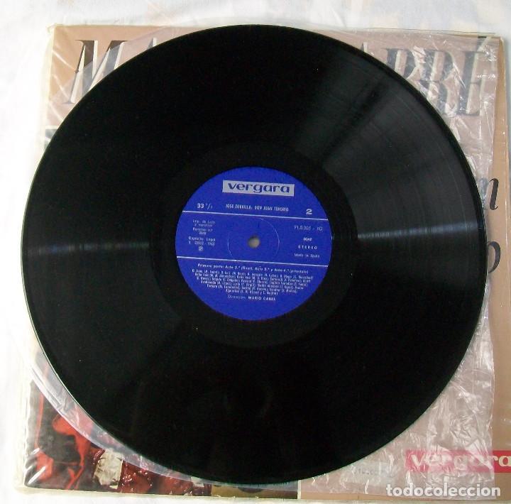 Discos de vinilo: MARIO CABRÉ EN DON JUAN TENORIO CON Mª MATILDE ALMENDROS VERGARA 1963 DOBLE DISCO - Foto 3 - 190450305