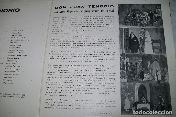 Discos de vinilo: MARIO CABRÉ EN DON JUAN TENORIO CON Mª MATILDE ALMENDROS VERGARA 1963 DOBLE DISCO - Foto 6 - 190450305